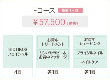 Eコース 57,500円