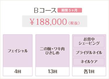 Bコース 188,000円