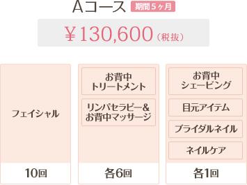 Aコース 5ヶ月 130,600円