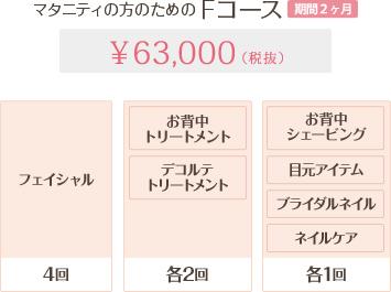 Fコース 1Day 63,000円
